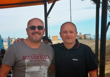 L'autore insieme a Alain Loubet