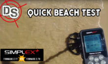 "Nokta-Makro SIMPLEX+ ""Quick Beach Test"" 2.77 vs 2.78"